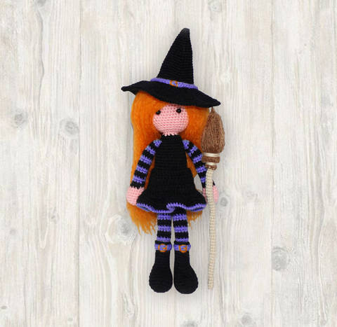 Witch Doll Crochet Pattern
