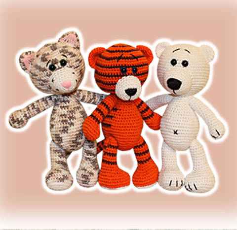 Tiger Cat Bear Crochet Pattern