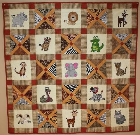 African Safari Animals Quilt Pattern