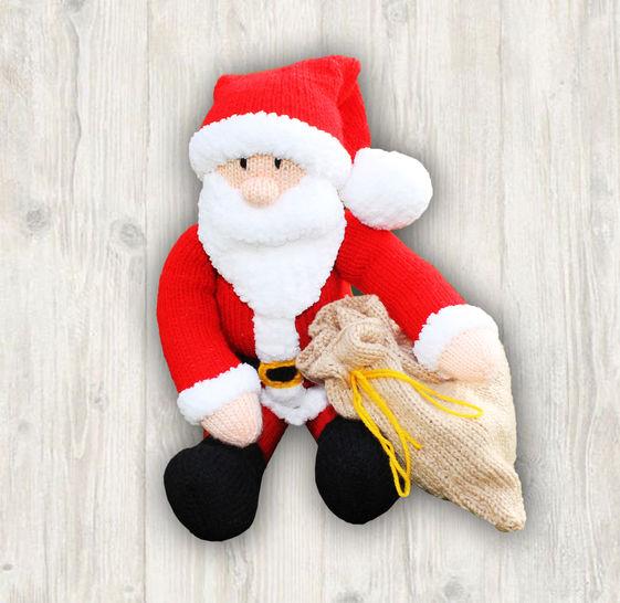 Santa Claus Father Christmas Knitting Pattern at Makerist - Image 1