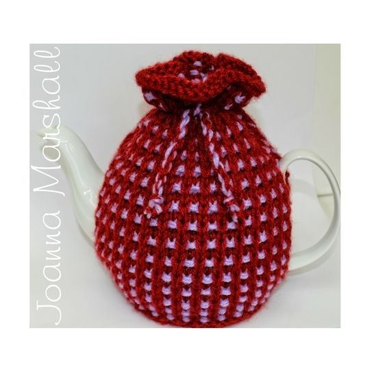 Basket Ribbed Tea Cozy Knitting Pattern at Makerist - Image 1