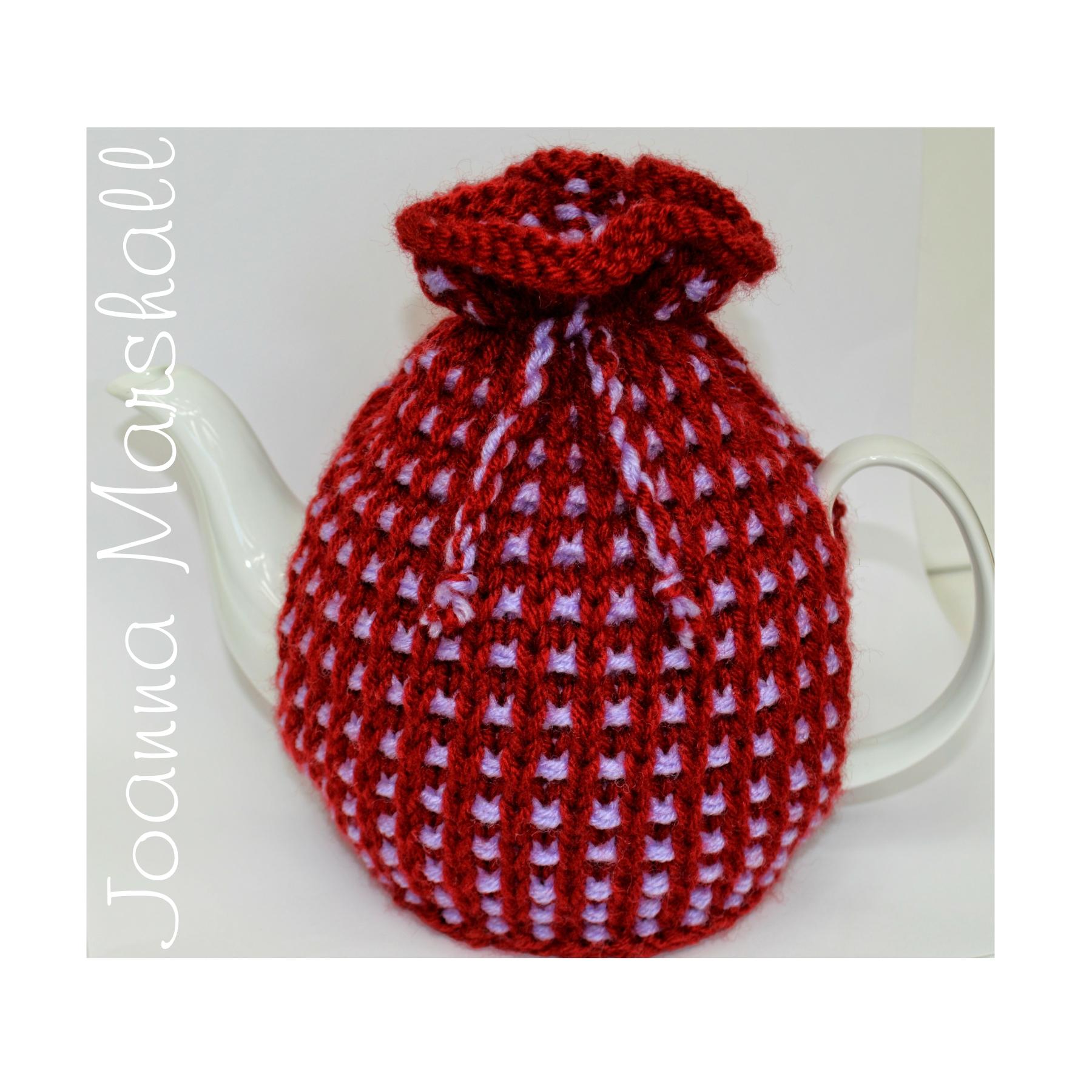 Basket Ribbed Tea Cozy Knitting Pattern