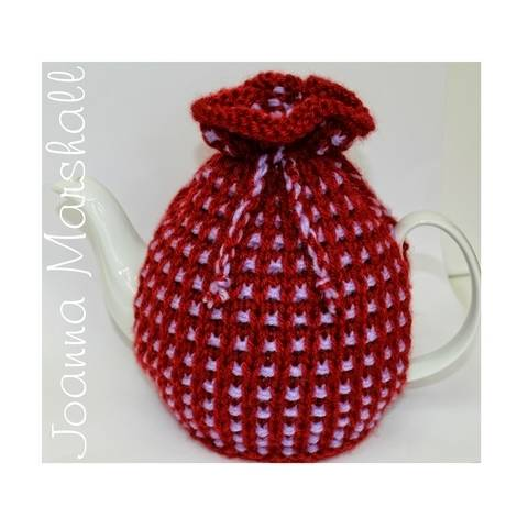 Basket Ribbed Tea Cozy Knitting Pattern at Makerist