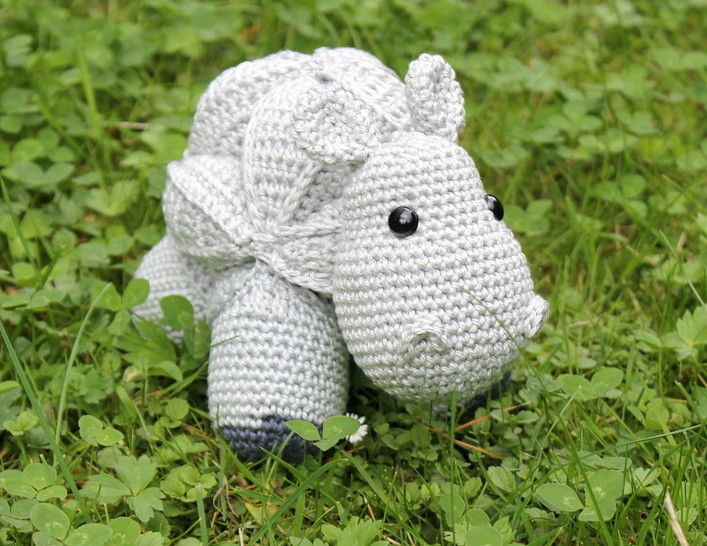 hippo amish puzzle ball crochet pattern english version at Makerist - Image 1