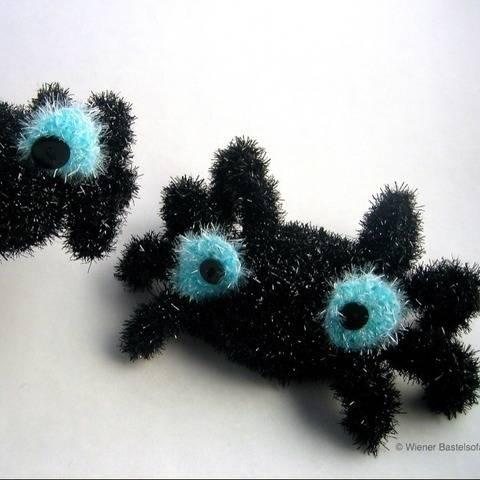 Spülschwamm Spinne Aufstecken an Spüliflasche Halloween bei Makerist