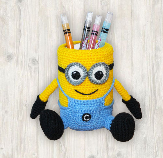 Minion Pencil Holder Pen Stand Crochet Pattern at Makerist - Image 1