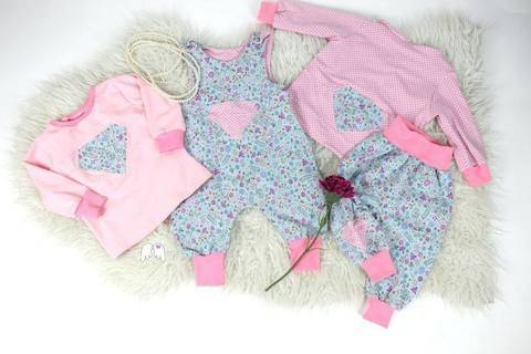 Diamond Baby Bundle Gr. 50-92 Romper Hose Shirt Cardigan bei Makerist