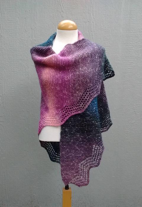 Lace Shawl Spanish Peaks PDF Knitting Pattern  at Makerist