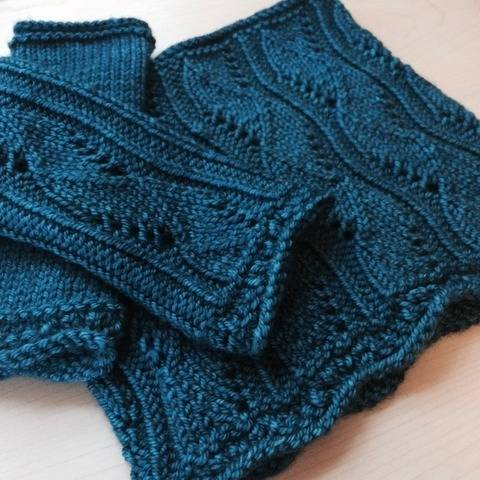 Rhapsody Cowl & Mitts - knitting pattern