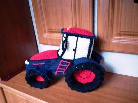 Traktor gehäkelt
