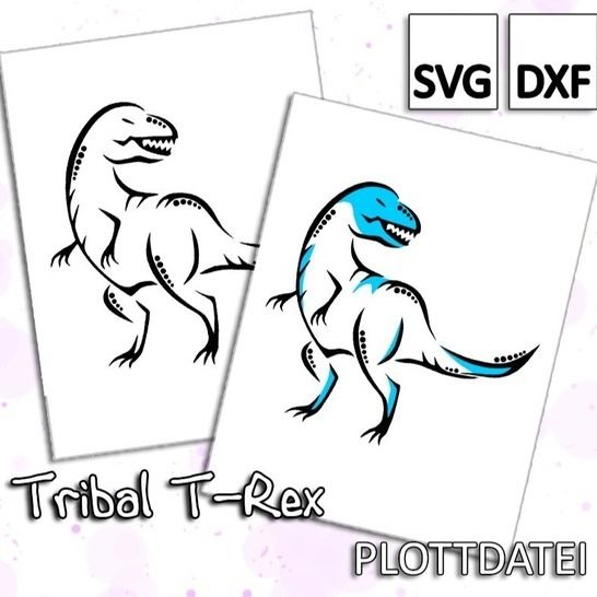 Tribal T-Rex - Plottdatei bei Makerist - Bild 1