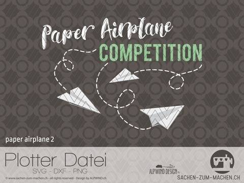 "Plotter-Datei ""paper airplane"" #2"