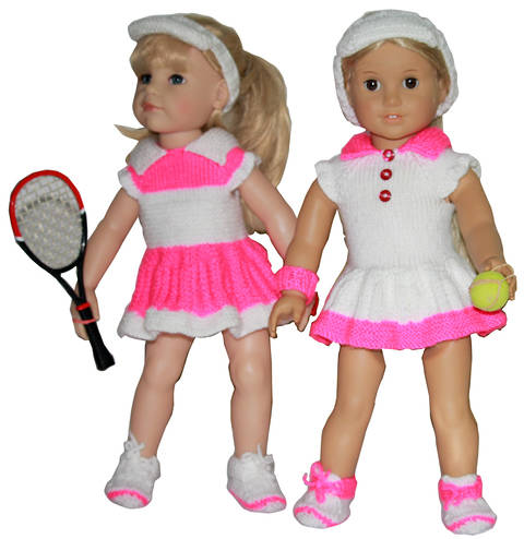 Summer dress - Tennis Fun for 18'' Doll knitting Pattern