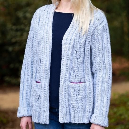 Cheyenne Cabled Cardigan #197 at Makerist - Image 1