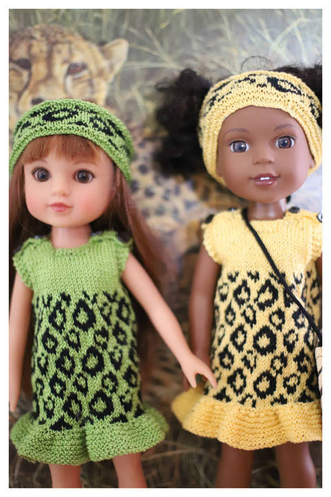 Summer dress - Back to Africa -Doll knitting Pattern