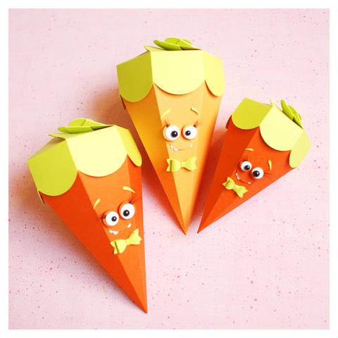"cutting file - carrot cone box ""monster"" ENGL"
