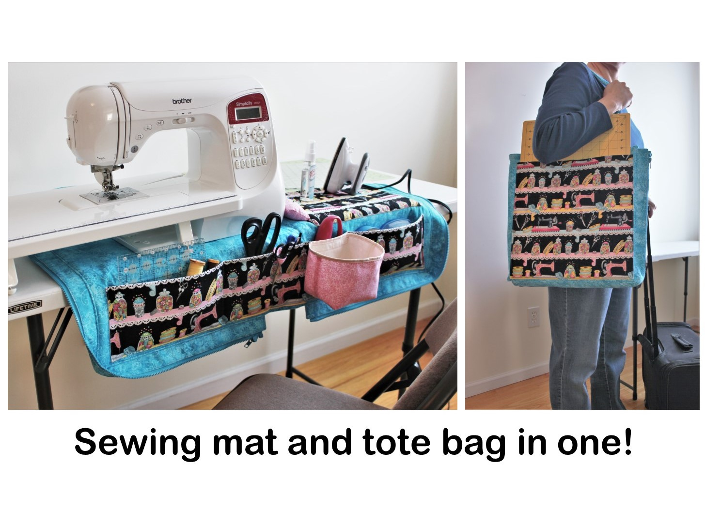 Sewing Machine Mat And Tote Bag Organizer Pattern
