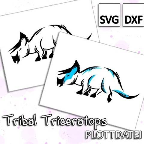 Tribal Triceratops - Plottdatei