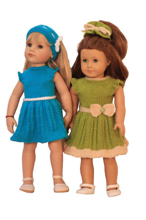 Summer - Fun Dresses  - doll knitting pattern