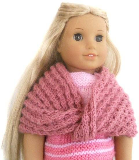 Winter - Cozy Infinity Shawl - dolls knitting pattern  at Makerist