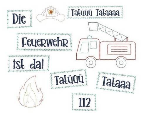 Stickdatei - Feuerwehr Appli in PES