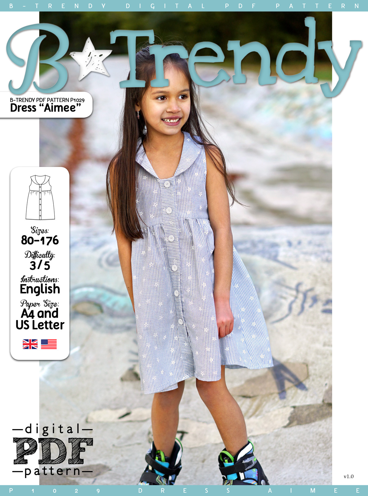 Dress AIMEE PDF Pattern + Tutorial