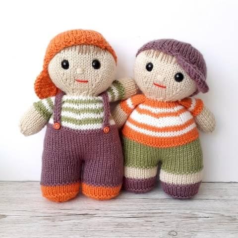 Benjy and Bo dolls at Makerist