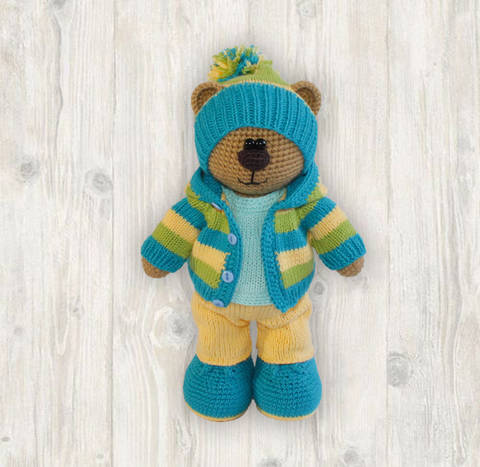 Billy Bear Crochet + Knitting Pattern