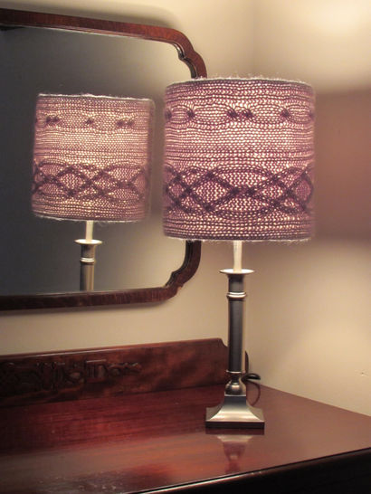 Cablelight Lampshade Knitting Pattern at Makerist - Image 1