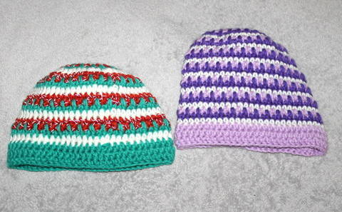 Mütze und Beanie im Eiszapfenmuster von Größe 49- 61 cm