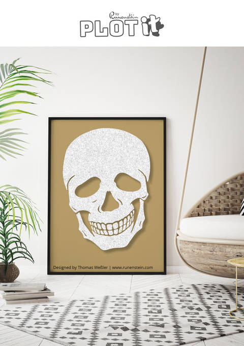 SKULL SMILING  PLOTTERDATEI bei Makerist