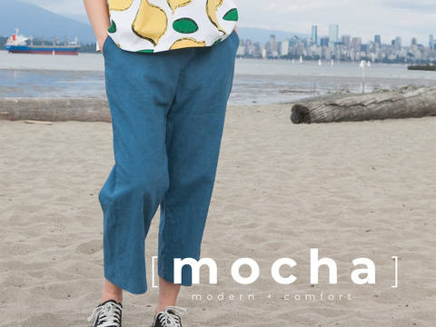 MOCHA Loose Fit Elastic Pants (#1736) at Makerist