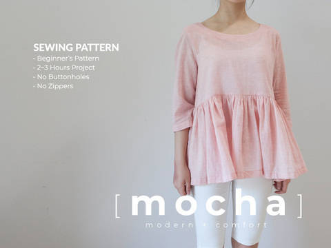 MOCHA Margie Blouse With Bottom Ruffles PDF Pattern (#1872) at Makerist