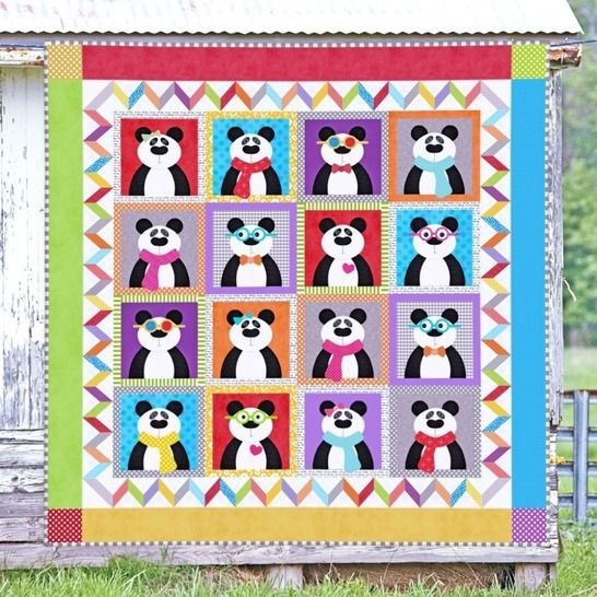 Panda Party - Quilt Pattern at Makerist - Image 1