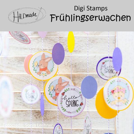 """DigiStamps """"Frühlingserwachen"""" bei Makerist - Bild 1"""