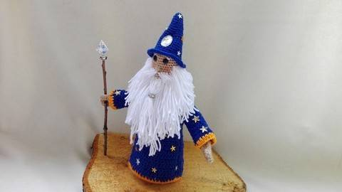 Albus- the wizard – crochet pattern at Makerist