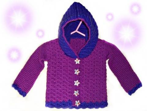 Baby Jacket Shell Look Size 62 (3-4 Month) – Crochet Pattern at Makerist