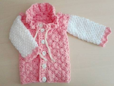Baby jacket with scale pattern size UK 1 month till 7 yrs at Makerist