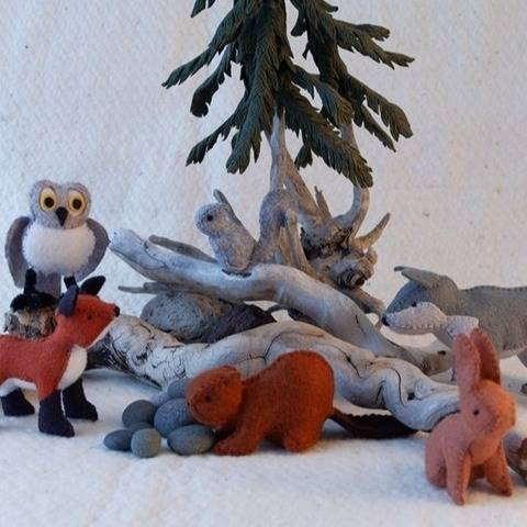 Felt Forest Friends, Patterns and Illustrated Instructions