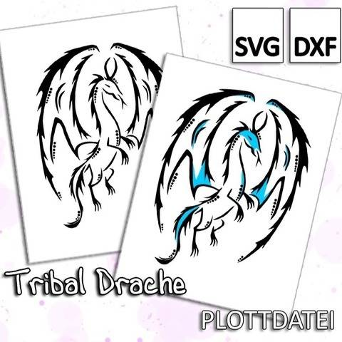 Tribal Drache - Plottdatei