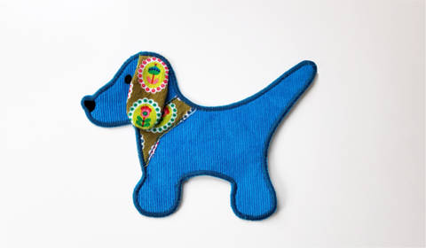 Stickdatei Hund Applikation 13 cm x 18 cm, embroidery