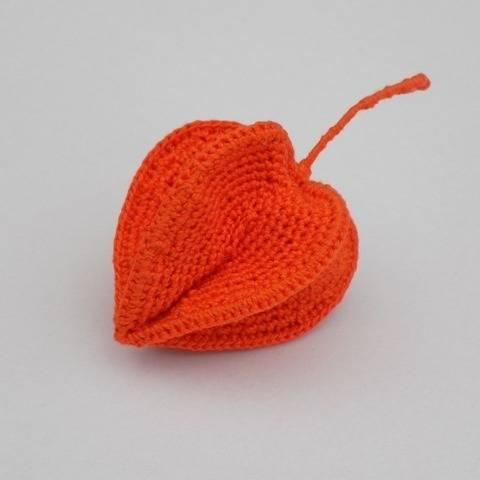 Crochet Physalis Flower Pattern, Chinese Lantern, Decor