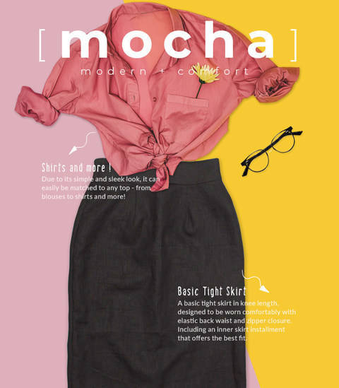 MOCHA Luz Semi Tight Skirt PDF Pattern (#2428)