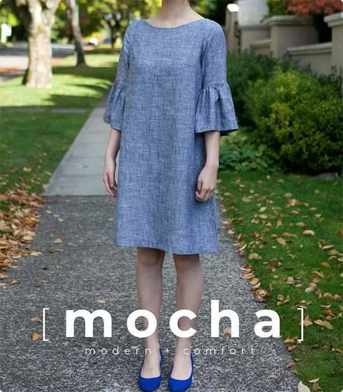 MOCHA Angelina Dress PDF Pattern (#2505) at Makerist