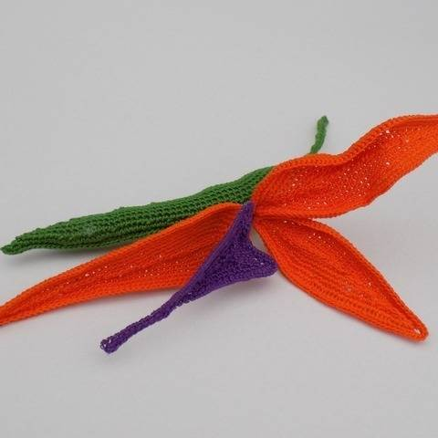 Crochet Strelitzia Flower Pattern, Bird of Paradise, Decor at Makerist