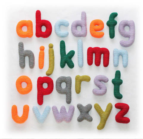ABC Lowercase Letters Crochet Pattern