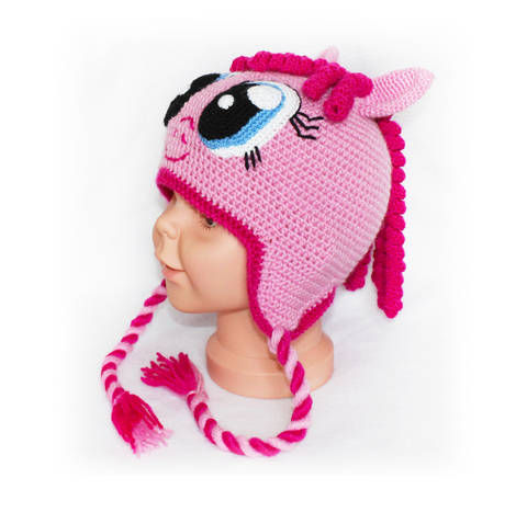 Girl Hat Crochet Pattern, Pony Hat Crochet Pattern