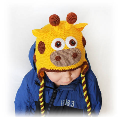 Giraffe Hat Crochet Pattern, All Sizes