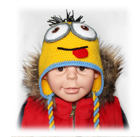 Minion Hat Crochet Pattern, All Sizes