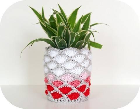 Häkelanleitung Deko-Vase/-Blumentopf